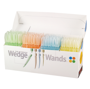 Клинья с аппликатором Wedge Wands Clear - Набор клиньев Wedge Wands Cure Through 400 шт.