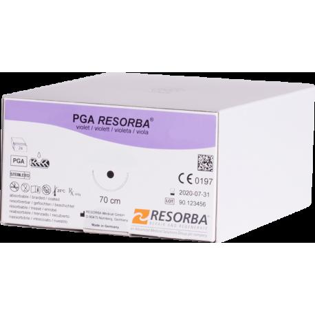 PGA Resorba - HR 12, 4-0 USP, 0.70м фиолетовый (1.5 ЕР)