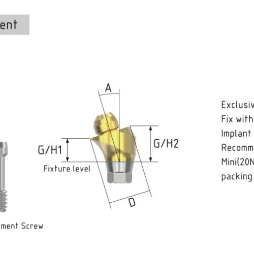 Multi-unit Osstem mini угловой 17°